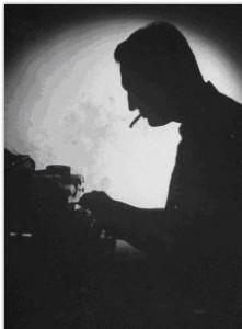 écrivain  noir et blanc