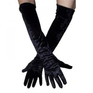 gants de velours noir