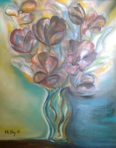 florero azul  40  50