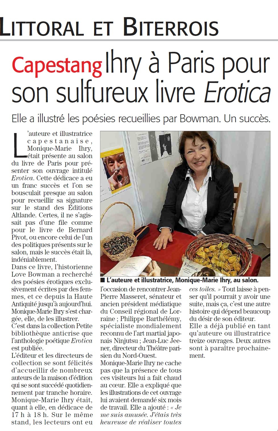 Article du midi libre salon du livre de paris 2017 for Salon du livre 2017