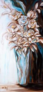 Bouquet bleu 80 x 40 cm